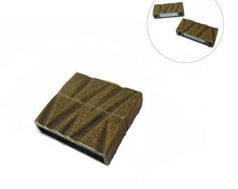 1x fermoir Magnétique aimanté Bracelet manchette 24x21mm BRONZE