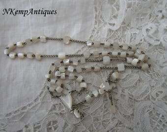 Antique rosary Mother of pearl 1900