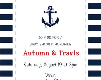 Anchors Aweigh Party Invite