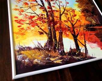 Oil painting landscape,Original oil painting by Tetiana