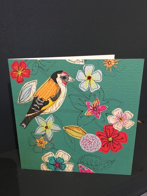 Goldfinch-Greeting Card- handfinished