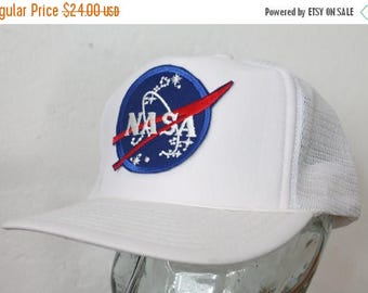 ON SALE One Size Fits All Vintage 80s/90s NASA Cap