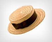 Vintage Hat // Vintage Straw Boater Hat by Lock & Co. Hatters, London // Size: 7 1/4