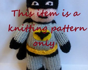 PDF knitting pattern: Batman
