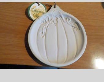 Thanksgiving Pumpkin Cookie Mold Stoneware