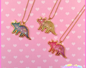 Triceratops necklace cute and kawaii fairy kei and lolita