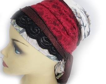 Apron style (Sinar) headcover / mitpachat / tichel / snood