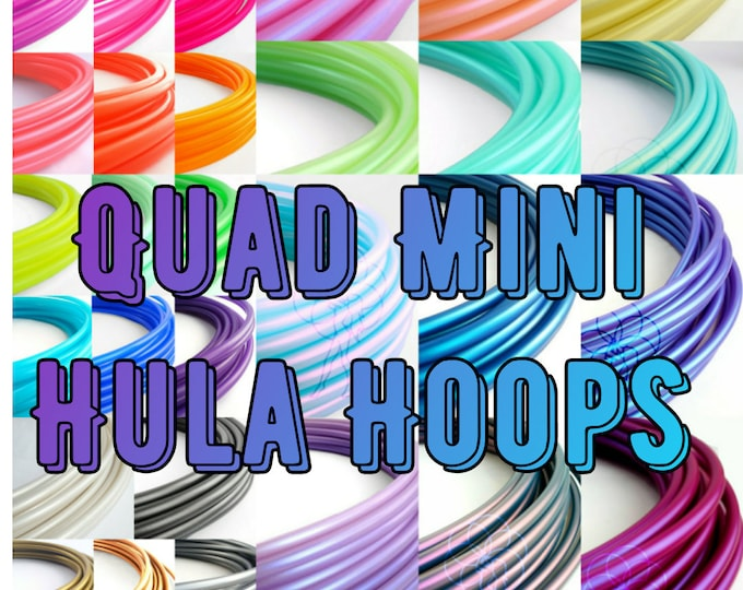 Quad Mini Hula Hoops 5/8 and 3/4// Four Mini Hula Hoops // Polypro and HDPE // Buy More Save More