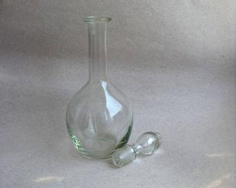 Vintage glass decanter Retro glass garafe Soviet cottage Old bottle Vintage bottle Old glass bottle Retro kitchen glass Retro glass jar