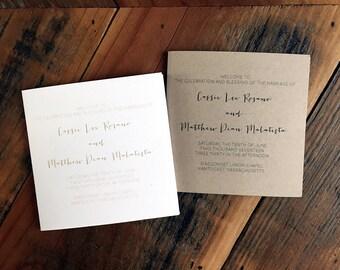 Tri Fold Wedding Programs Modern Wedding Program Customizable Wedding Program Elegant Programs