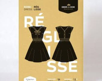 Reglisse Dress- Deer and Doe Patterns