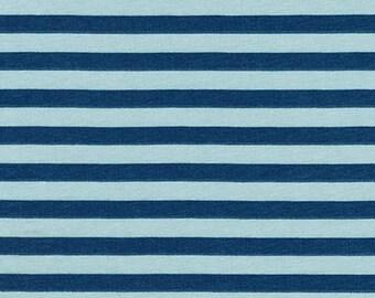 Stripes in Fog- Blake Cotton Knit by Carolyn Friedlander- Robert Kaufman