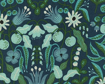 PRESALE: Freja - Turquoise in CANVAS by Rifle Paper Co. for Cotton + Steel