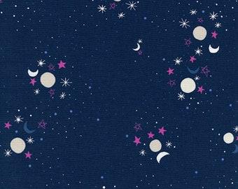 PRESALE: Sun Moon Stars (navy) from Eclipse by Rashida Coleman-Hale for Cotton + Steel