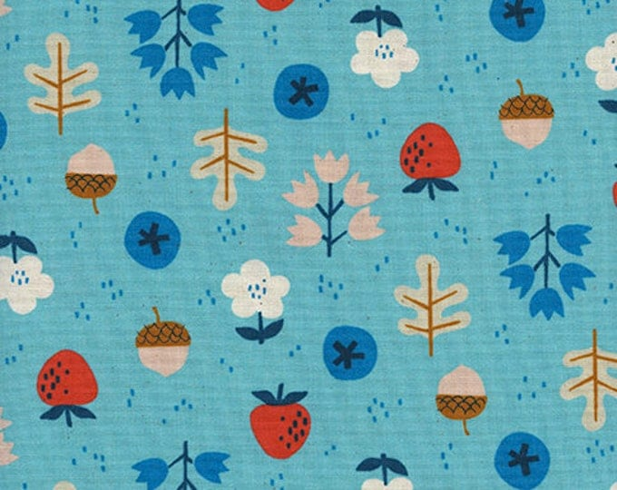 Pre-Sale- Forage in Bright Blue -Welsummer -Kim Kight for Cotton + Steel