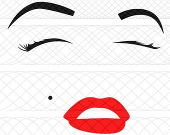 Marilyn Monroe Face SVG, PNG, and STUDIO3 Cut Files for Silhouette Cameo/Portrait and Cricut Explore DIY Craft Cutters