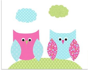 Owl Nursery Art, Woodland Nursery Art, Woodland Girlu0027s Room, Forest Themed  Nursery,