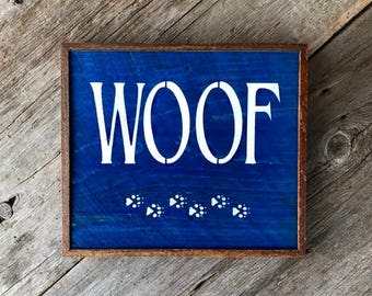 Dog Decor, Gift Idea for Dog Lovers, Handmade Sign, Wood Signs, Paw Prints, Dog Tracks, Canine, Animal Signs, Wall Art, Dog Art, Wall Decor