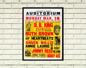 Reprint of a 60's BB KIng Concert Poster