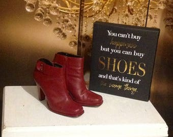 Canaan wine  ankle boots booties
