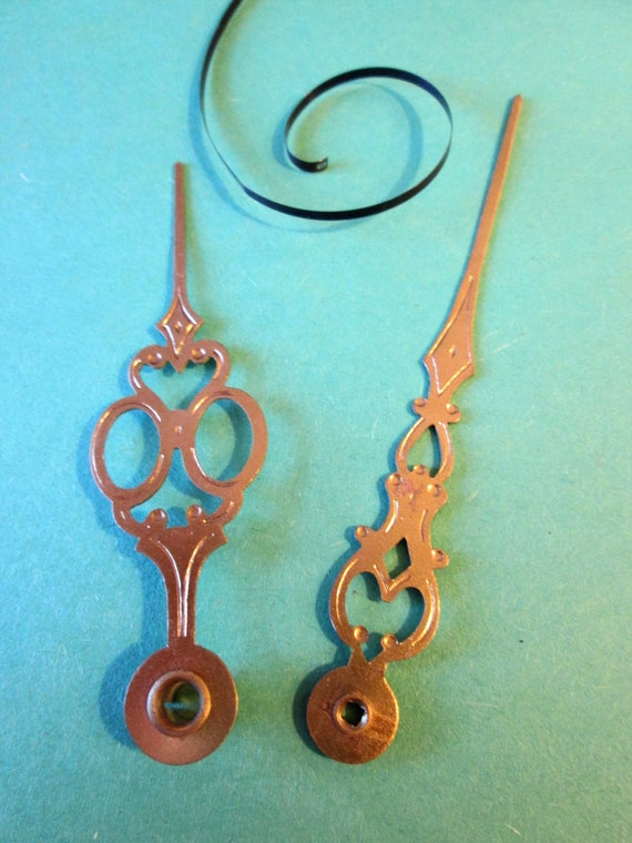 1 Pair of Fancy Pressed Brass Clock Hands for your Clock Projects - Jewelry Making - Steampunk Art - Crafts & Etc.....