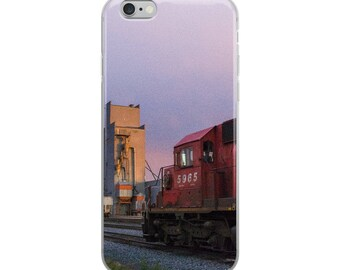 iPhone 5/5s/Se, 6/6s, 6/6s Plus Case - Red Silo Original Art - Canadian Pacific Elevator