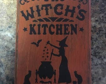 Halloween The Witch's Kitchen Sign