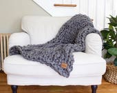 """SALE! // Chunky Knit Blanket // Chunky Knit Throw //  36"""" x 55"""" // Simply Maggie"""