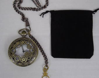steampunk pocket watch, fob watch, time piece ,groomsman,wedding