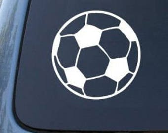 "SOCCER Ball Futball 2"" Vinyl Decal Widow Sticker for Car, Truck, Motorcycle, Laptop, Ipad, Window, Wall, ETC"