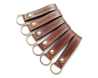 Leather Fob/Strap/Snap keychain