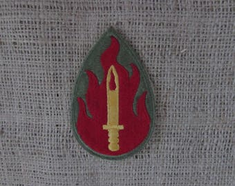 WW2 U. S. Army 63rd. Infantry Division Patch, Blood  and Fire Sword Patch, Vintage WW2 Army Patch 63rd Infantry Division, Military Patches