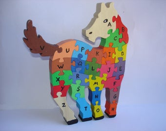 Horse puzzle to learn the Alphabet