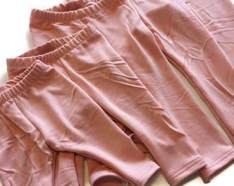 Pink Leggings pants  - ready to Ship, comfy pants, baby, toddler clothes, leggings, baby leggings
