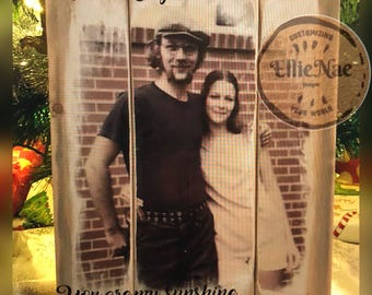 Pallet Type Wood Picture From Your Photo - Custom Photo Gift - Wedding - Valentine - Memorial