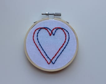 3D Heart Hand Embroidery