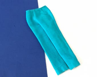 Vintage Barbie Turquoise Pants Slacks to Photo Fashion & Sporting Casuals