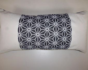 CUSHION RECTANGLE black and white