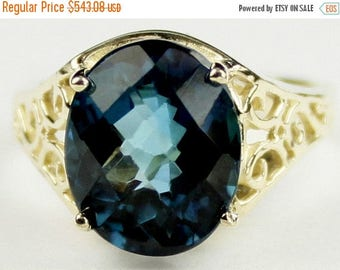 On Sale, 30%Off, London Blue Topaz, 10KY Gold Ring, R057