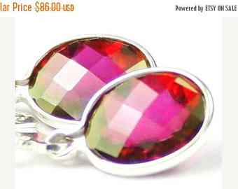 On Sale, 30% Off, Crimson Fire Topaz 925 Sterling Silver Leverback Earrings, SE001