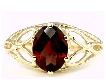 On Sale, 30% Off, Mozambique Garnet, 14KY Gold Ring, R137