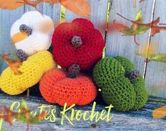 Fall autumn pumpkins crochet