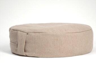 Meditation cushion Zafu Buckwheat pillow Zafu cushion Organic zafu Yoga meditatation Floor pillow Floor cushion Natural Grey burlap Linen