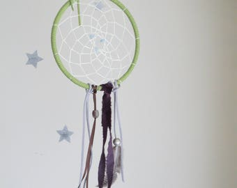 dreamcatcher: lime & purple