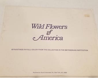 18 Prints of Wild Flowers of America Smithsonian Institution