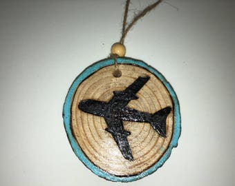 Custom Wood burned ornament