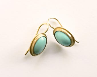 Turquoise 'Anna' Earring, Drop Earring, 18 Carat Gold and Turquoise Earring
