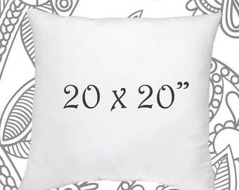 sale ends soon 20 x 20 inch pillow insert faux down pillow forms pillows