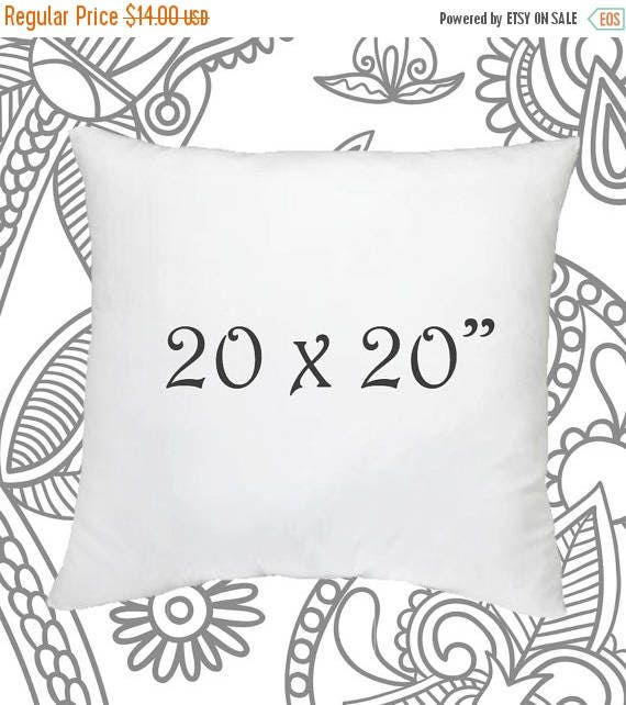 SALE ENDS SOON 20 x 20 Inch Pillow Insert Faux Down Pillow