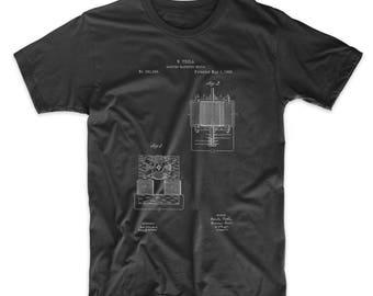 Tesla Electro Magnetic Motor Poster T Shirt, Technology Shirt, Nikola Tesla, Engineer Gift, PP0532